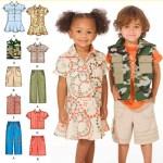 Выкройка Simplicity — Платье, Жилет, Рубашка, Шорты, Брюки - S2907