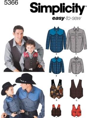 Выкройка Simplicity — Рубашка, Жилет - S5366 ()