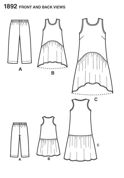 Выкройка Simplicity — Сарафан, Бриджи - S1892