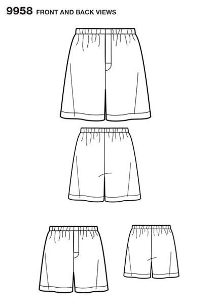 Выкройка Simplicity — Шорты - S9958