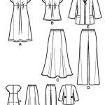 Выкройка Simplicity — Топ, Платье, Жакет, Юбка, Брюки - S2660 ()