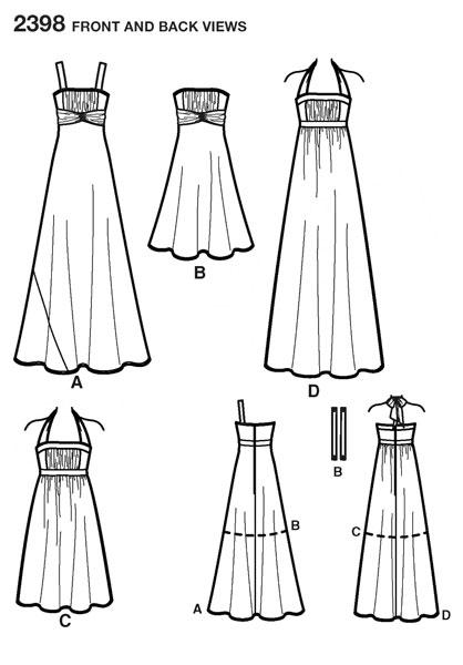 Выкройка Simplicity — Вечернее платье - S2398 ()