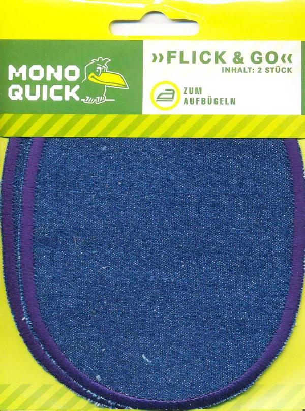 Заплатки джинсовые с обработанным краем