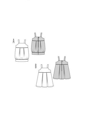 Выкройка Burda  9551 — Платье для девочки