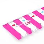 Линейка для разметки и измерения Prym Love - розовый