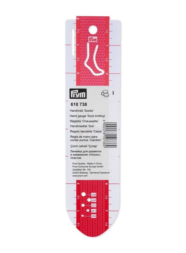 Линейка для разметки и измерения носок