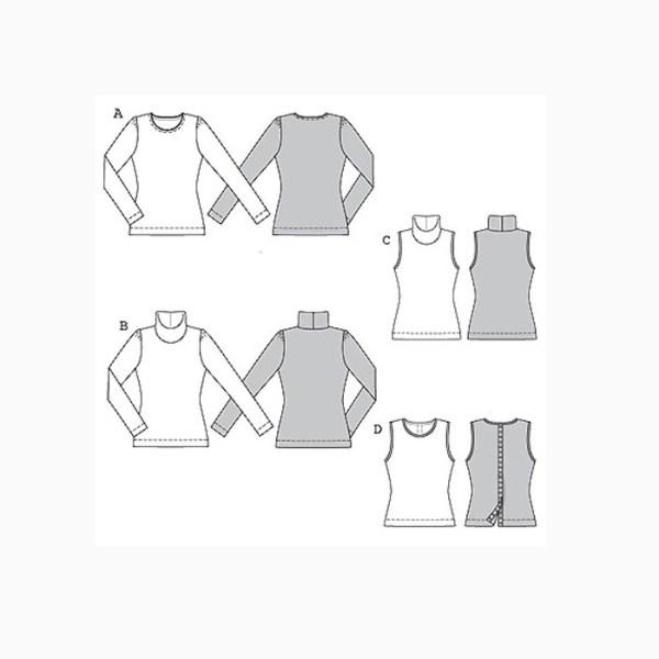 Выкройка Burda №7742 — Водолазка, пуловер