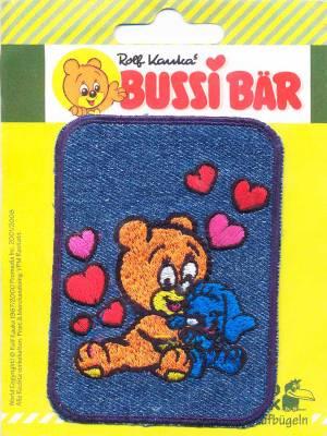 Термоаппликация Mono Quick (14394) – Заплатка детская джинсовая с вышивкой Медведь