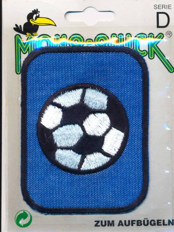 Термоаппликация Mono Quick (63793-10) – Заплатка детская джинсовая с вышивкой Мяч