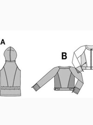 Выкройка Burda №7820 — Куртка-свитшот, жилет