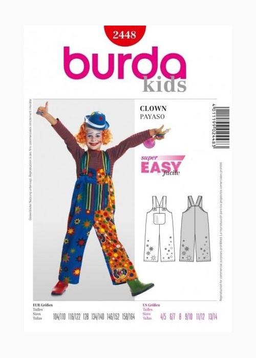 Выкройка Burda №2448 — Карнавальный костюм Клоун