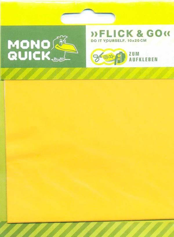Заплатка самоклеющаяся, прямоугольная 10х20 см - желтый