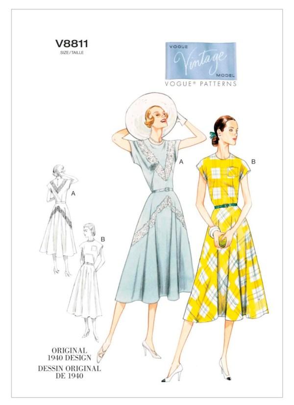 Выкройка VOGUE №8811 — Платье