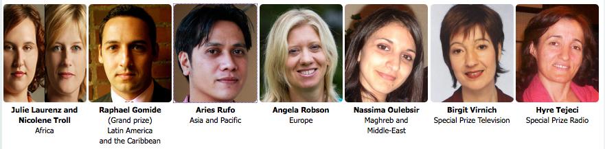 Natali Prize till journalister för bevakning av mänskliga rättigheter