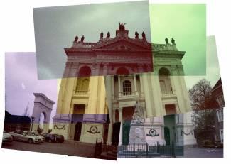 Enorme kerk in Brabant. Olympus Trip 35 met Adox Color Implosion