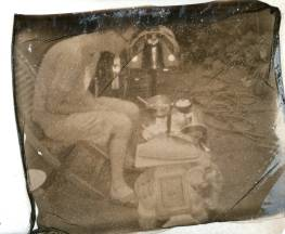 Image transfer van Impossible Silver shade film.
