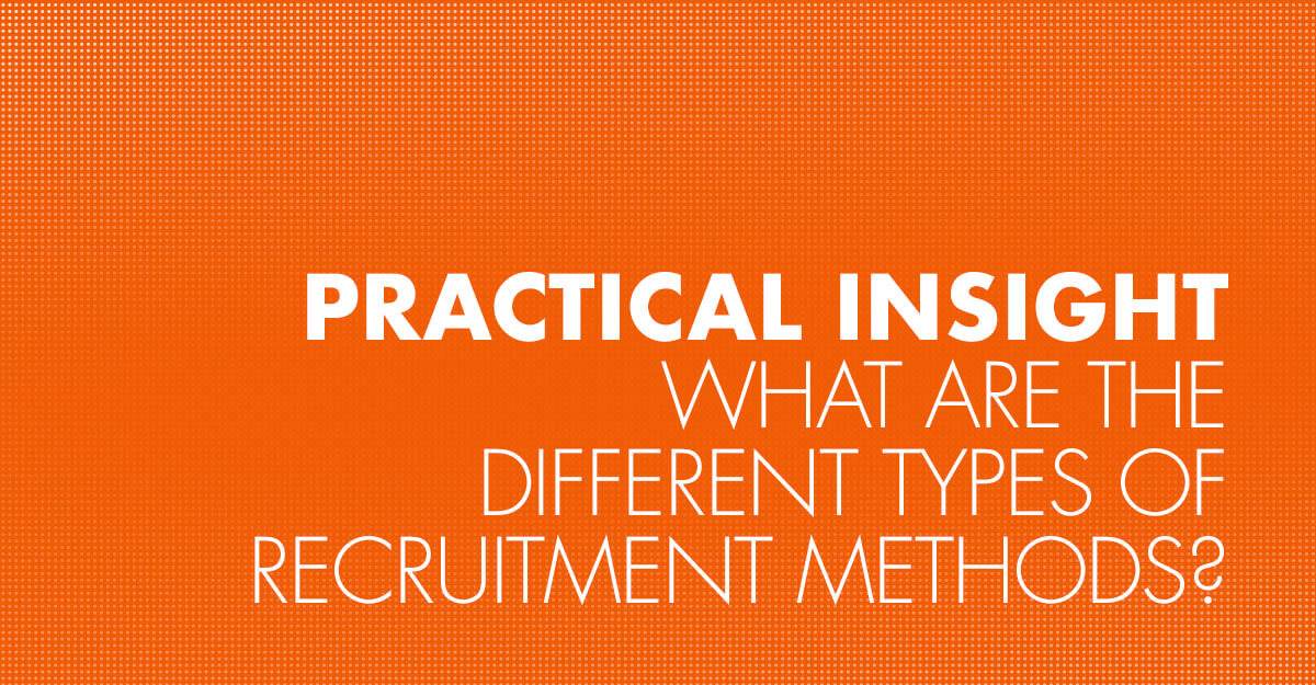 What are the different types of recruitment methods?