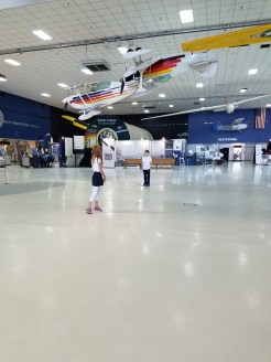 6th graders test out their gliders.