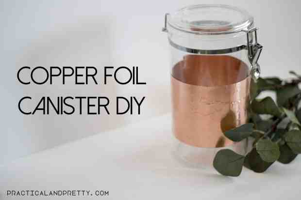 Gold detail kitchen canister diy practical and pretty - Applying the pretty copper accessories into your kitchen ...