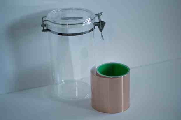 Copper Foil tape canister DIY