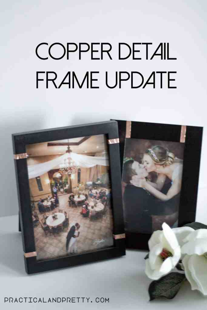 DIY Copper detail frame update. Super easy Ikea hack!