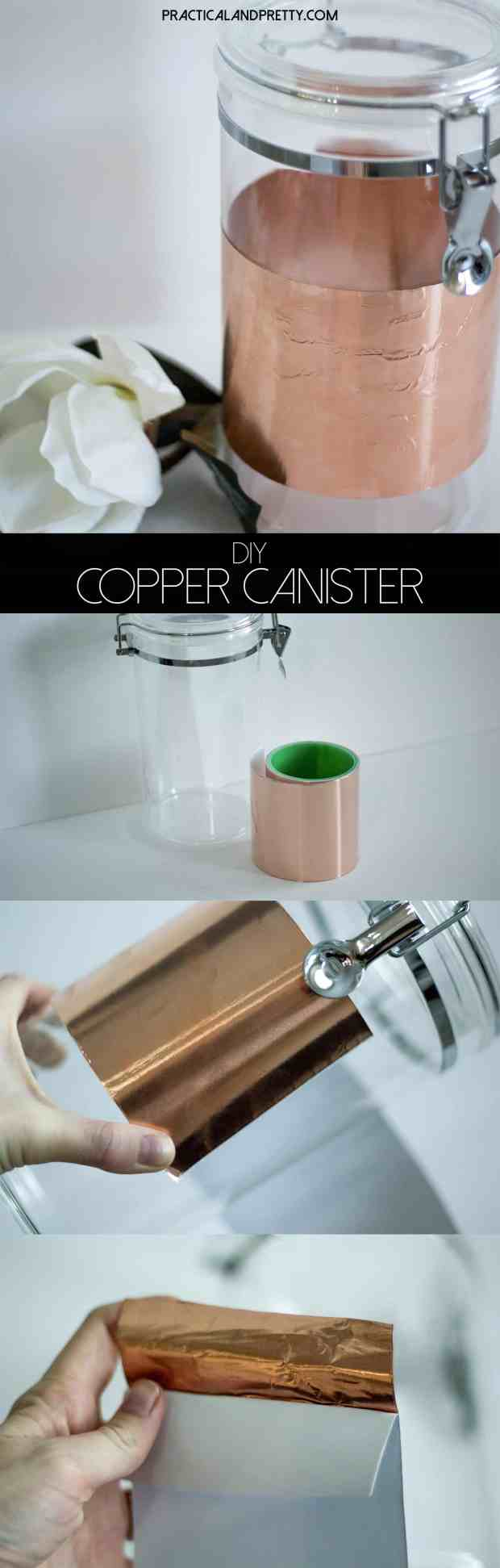 This is a super simple DIY that will make any kitchen canister worthy of your counter.