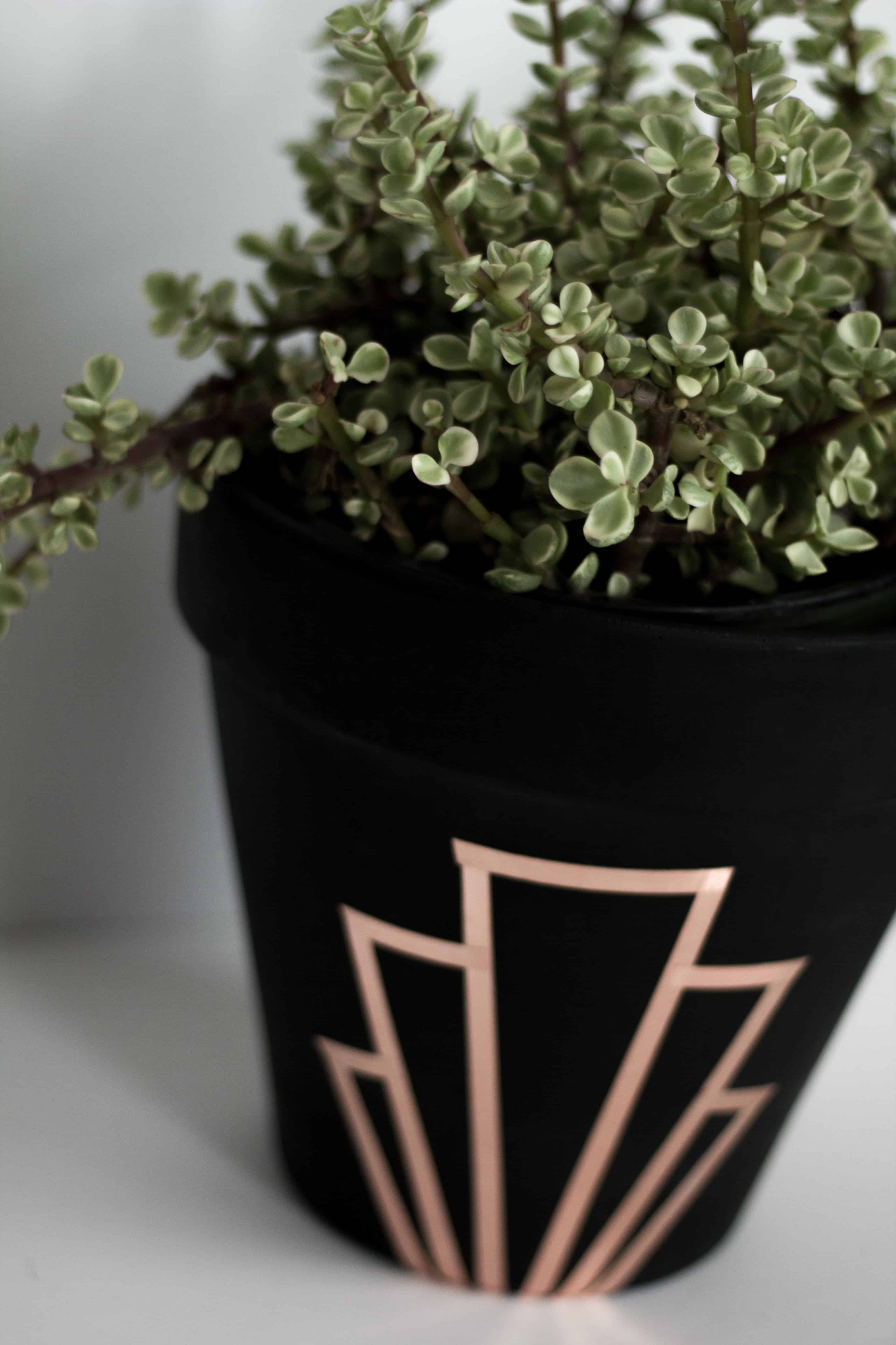 Copper art deco DIY planter