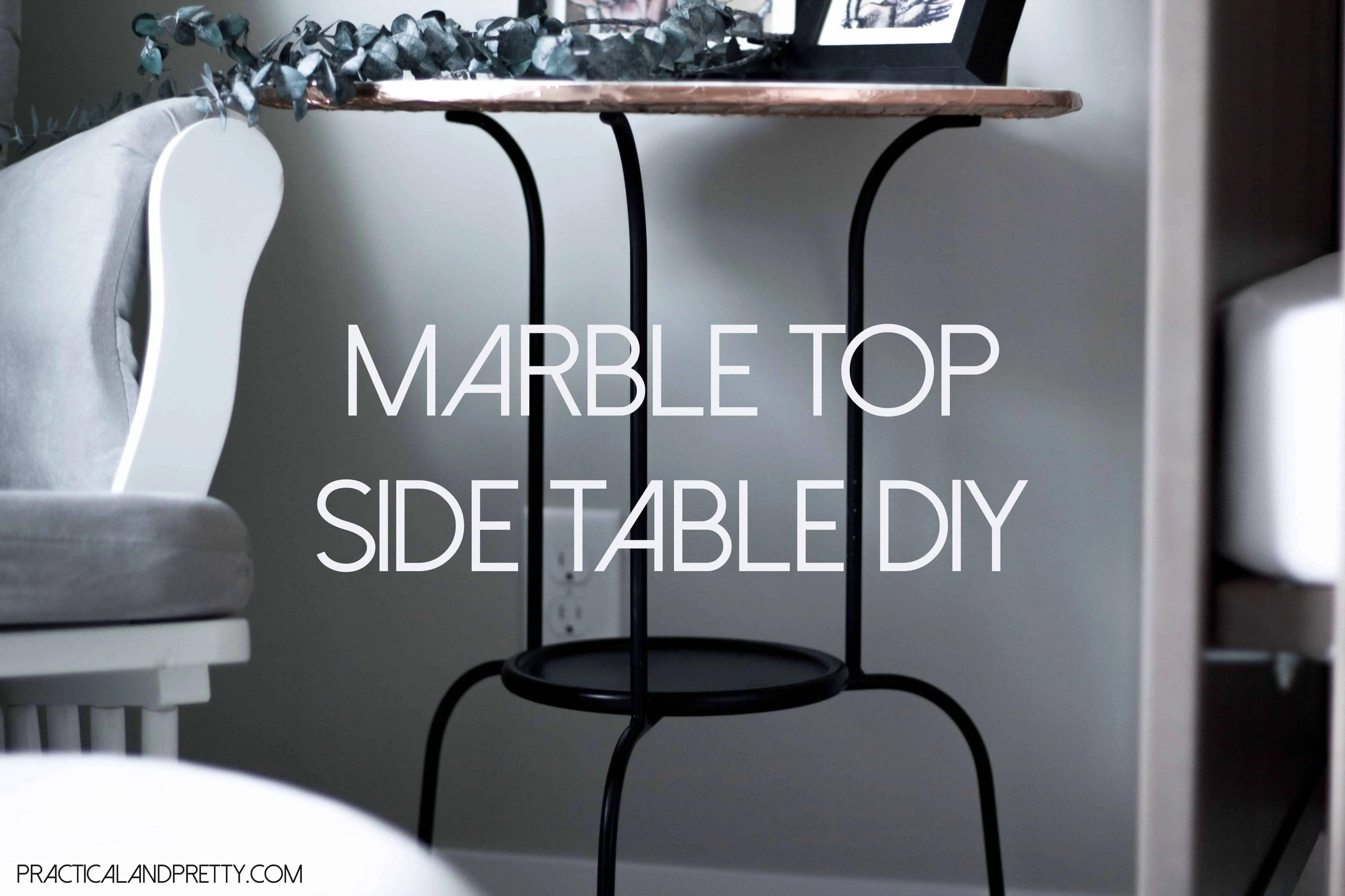$20 DIY Marble Top Side Table