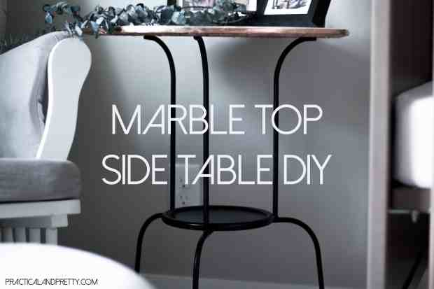 This Ikea hacked side table would look nice in any room. You won't believe how little it will cost you either!