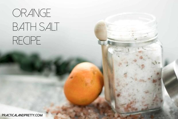 Simple bath salt recipe to make your bath even better.