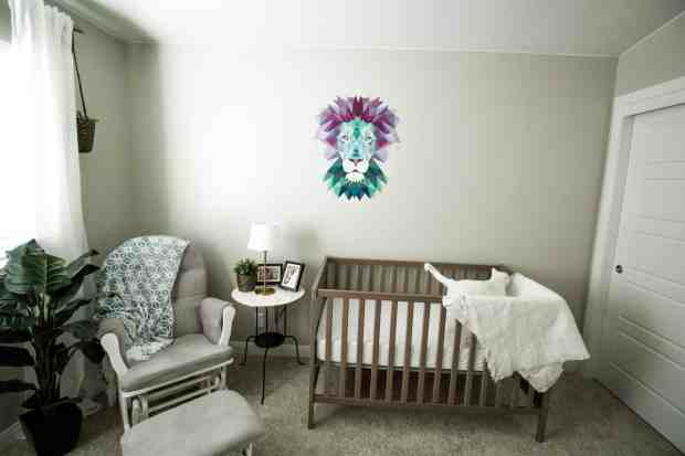 Neutral nature themed nursery