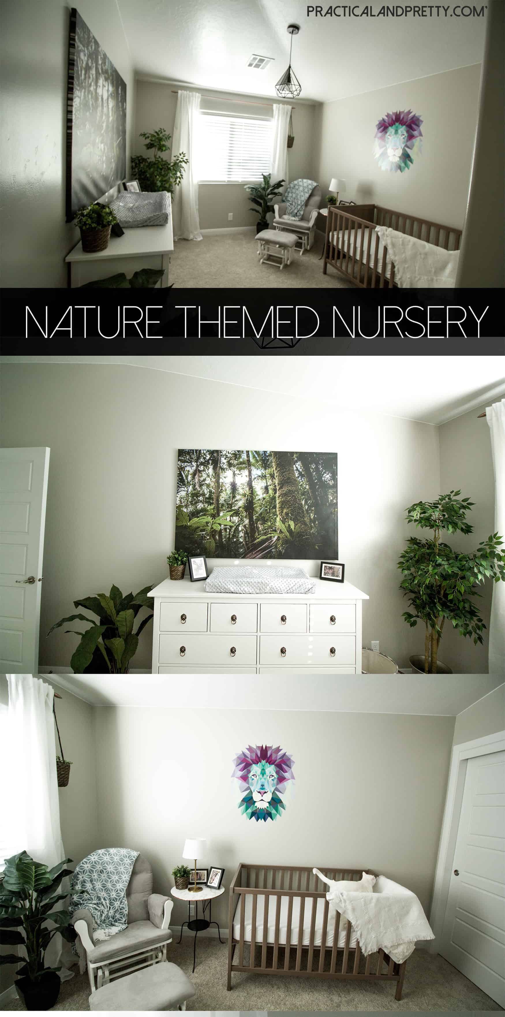 This serene nursery is exactly what you need if you're waking up every two hours. Plus it's pretty gender neutral!
