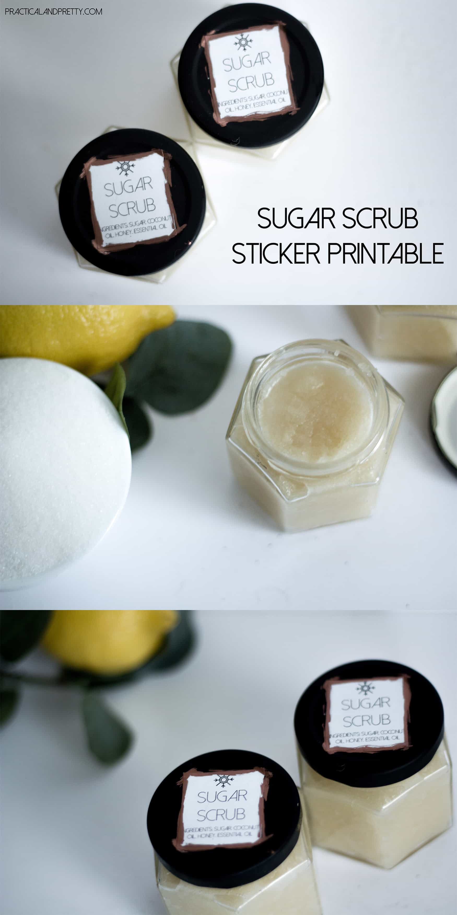 You need this sugar scrub in your life. Plus there is a free label printable included!
