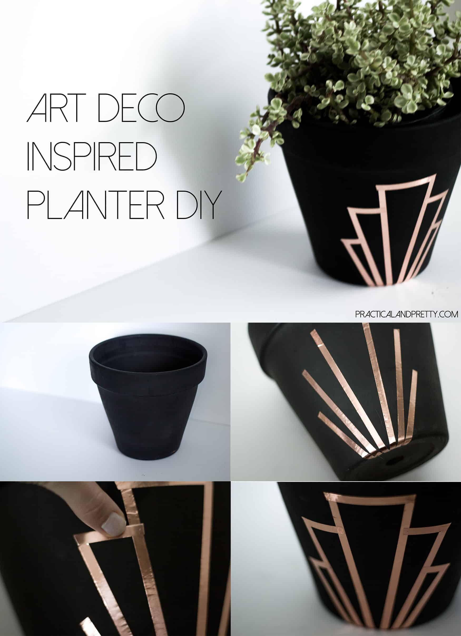 Simple terra cotta planter update with a huge impact. Any plant would look nice in a pot like this!