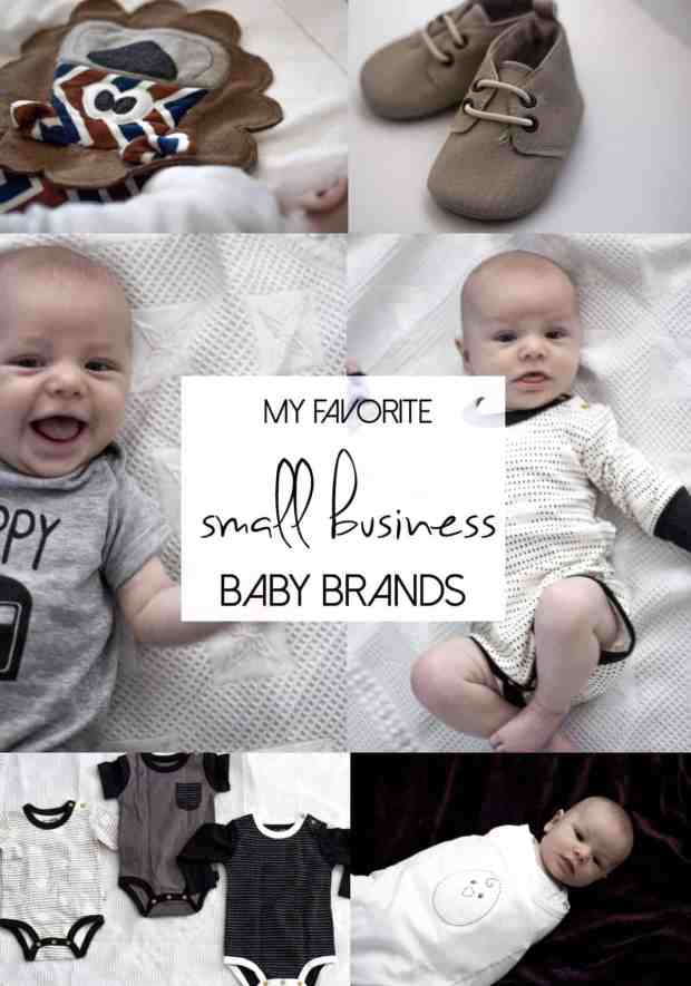 It is so important to support small businesses so I put together this round up of a couple of my favorite baby brands!