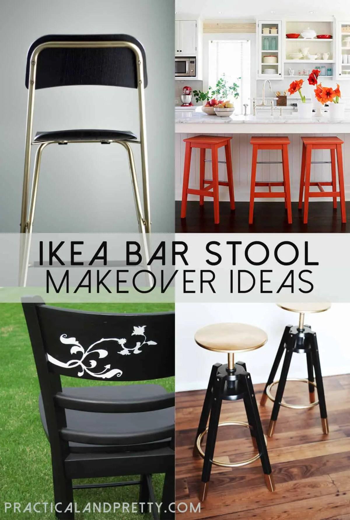 Easy IKEA Bar Stool Updates