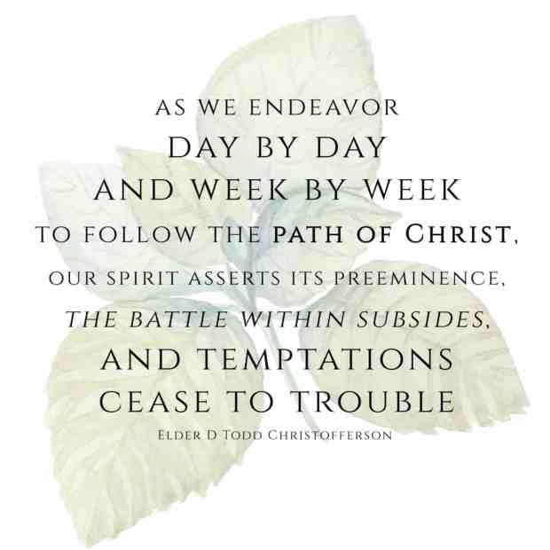 Quote from Elder Christofferson - July Visiting Teaching Message