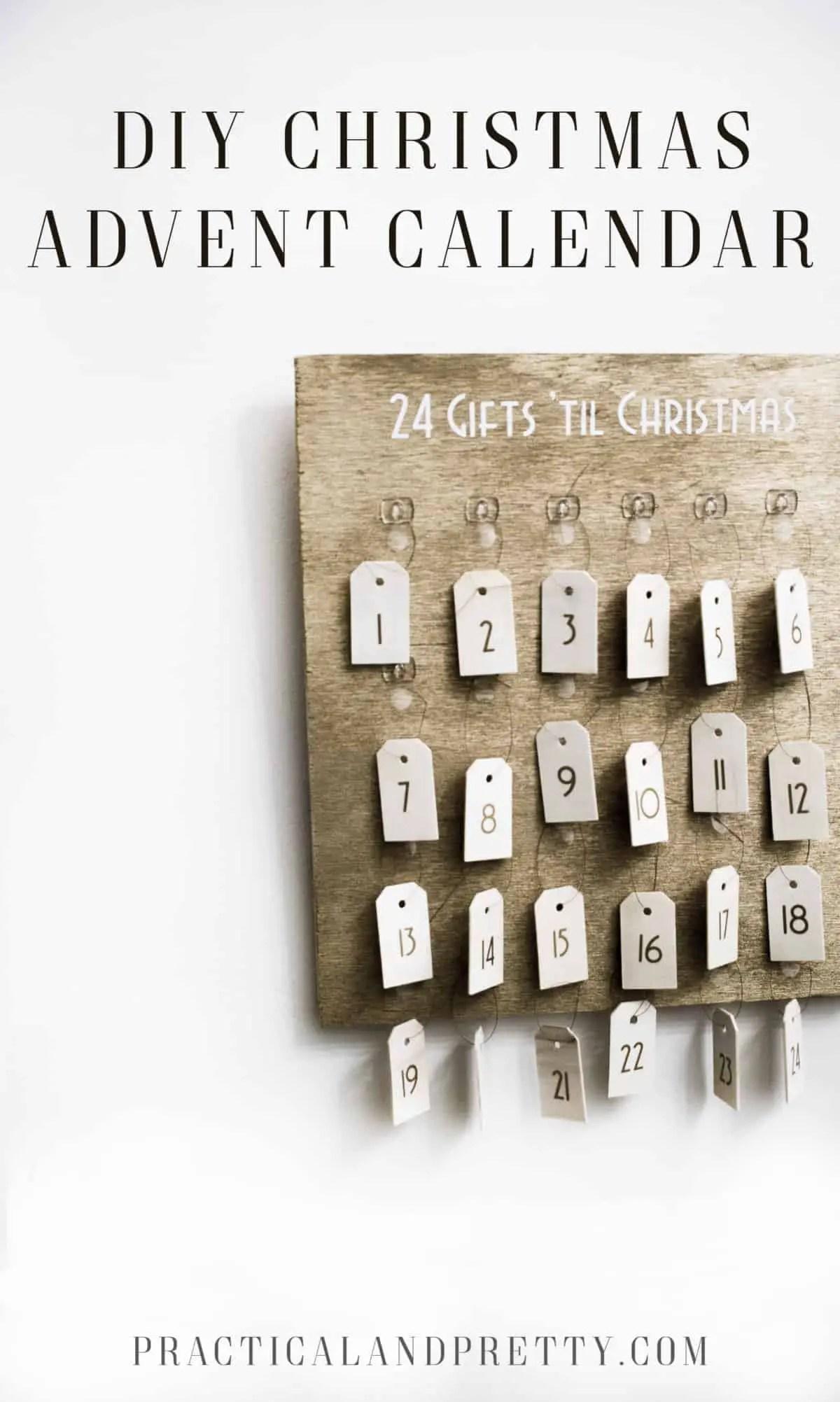 diy christmas advent calendar with cricut practical and pretty