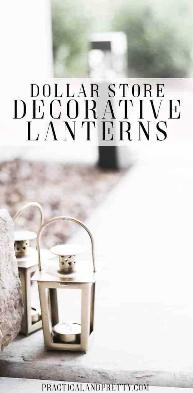These decorative lanterns are so simple to DIY and will only cost you a dollar!