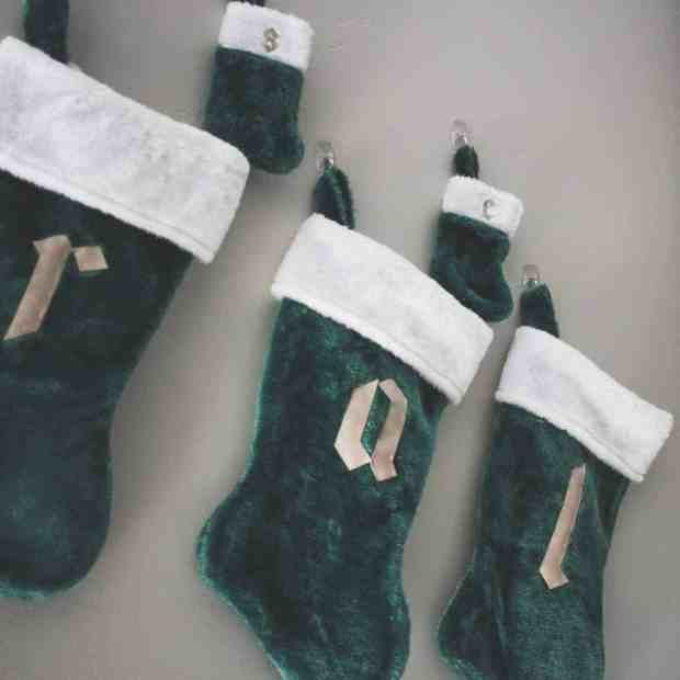 The Cricut made these DIY stockings a breeze! i love having each of our initials monogrammed and I only spent $2!