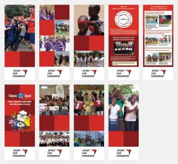 ボツワナにて開かれた世界女性スポーツ会議の展示パネルのデザインとディレクション