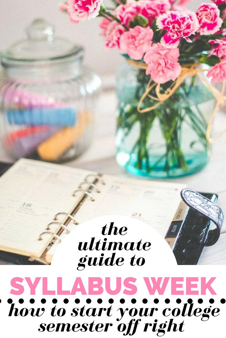 how to syllabus week organize