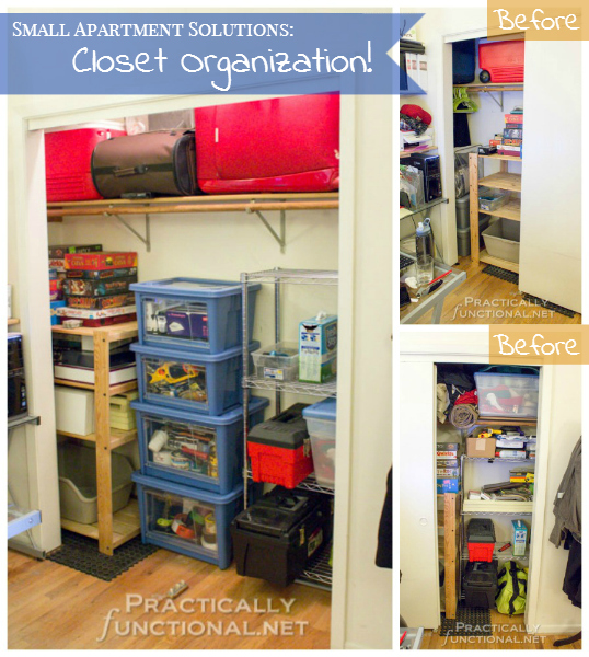 Small Apartment Solutions: Closet Organization! on Small Apartment Organization  id=36515
