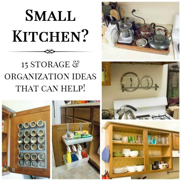 15 Small Kitchen Storage & Organization Ideas on Small Apartment Organization  id=38777