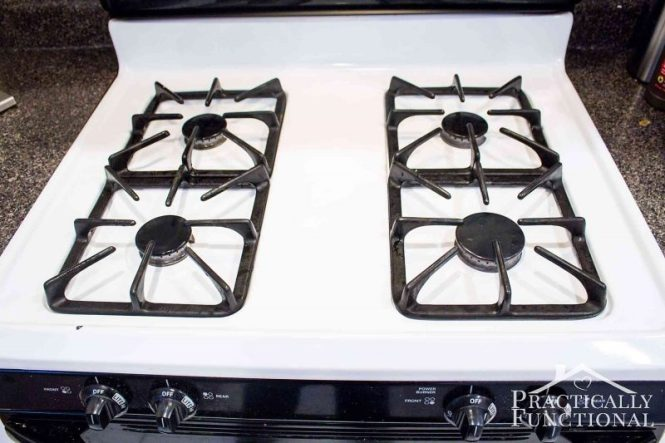 How To Clean Cooked On Gunk From A Stove Top