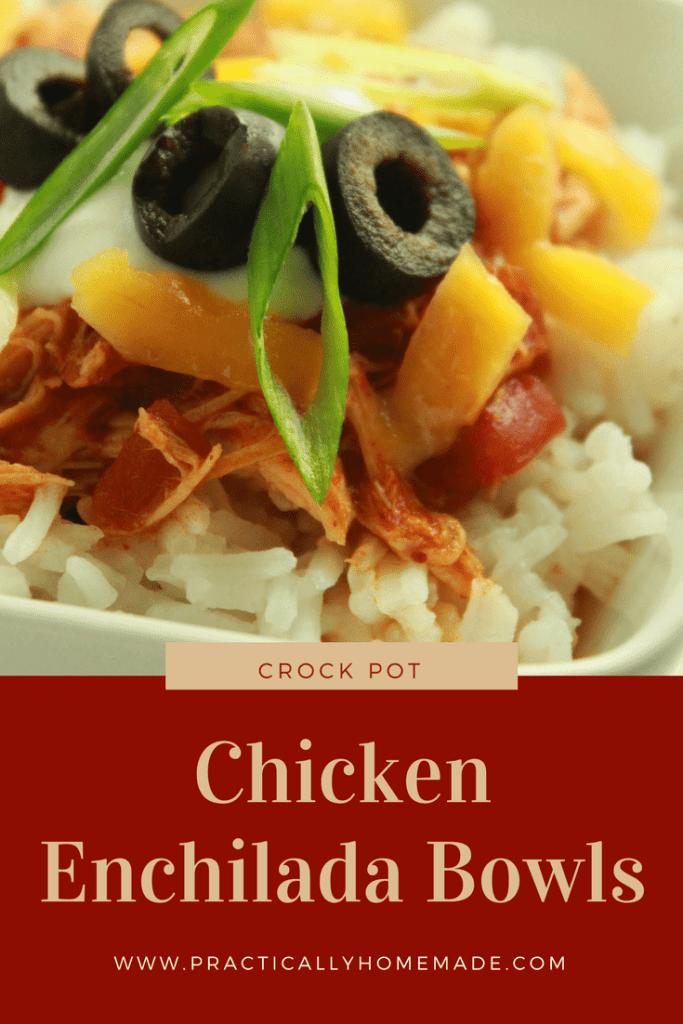 chicken enchilada bowls | chicken enchilada bowl crock pot | chicken enchilada recipe | bowl recipes | mexican food recipes | crock pot recipes | crock pot recipes easy | chicken recipes