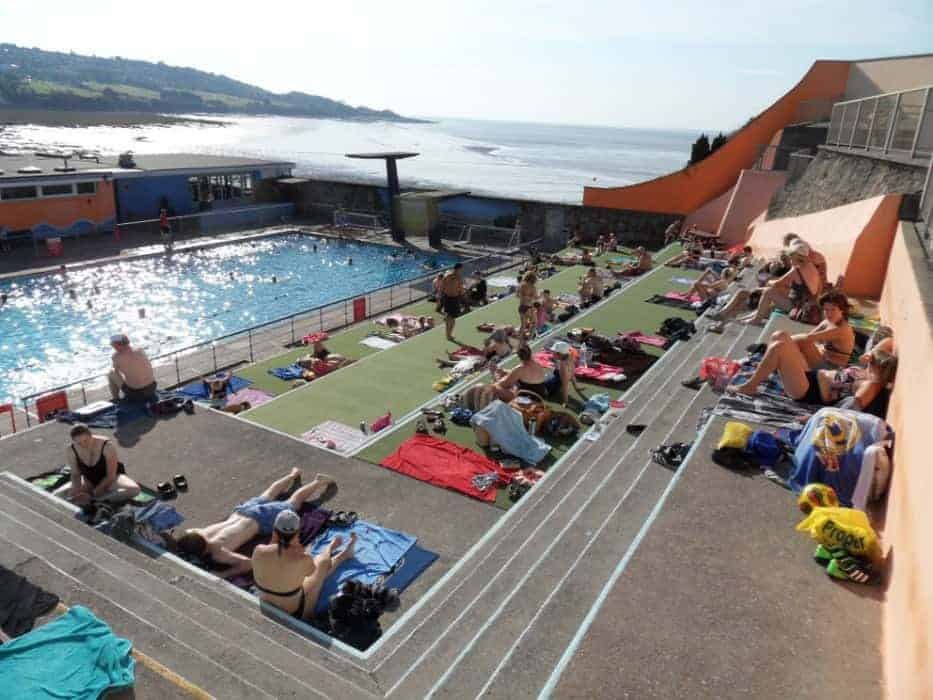 Portishead outdoor pool come on in the water 39 s lovely for Outdoor pools open