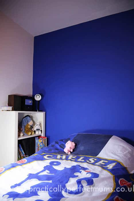 Chelsea Football Bedroom Makeover Old unit repurposed