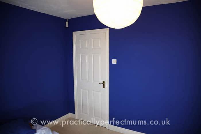 Chelsea Football Bedroom Makeover blue walls