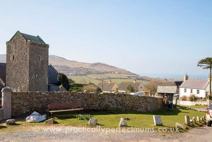 Llangenith Church opposite King's Head, Gower Peninsula, Llangenith, Wales